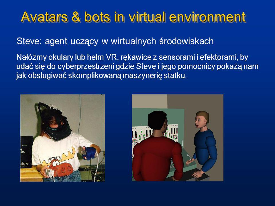 Avatars & bots in virtual environment