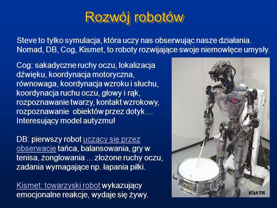 Rozwój robotówSteve to tylko symulacja, która uczy nas obserwując nasze działania.