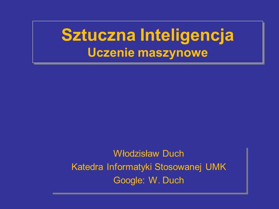 Sztuczna Inteligencja Uczenie maszynowe