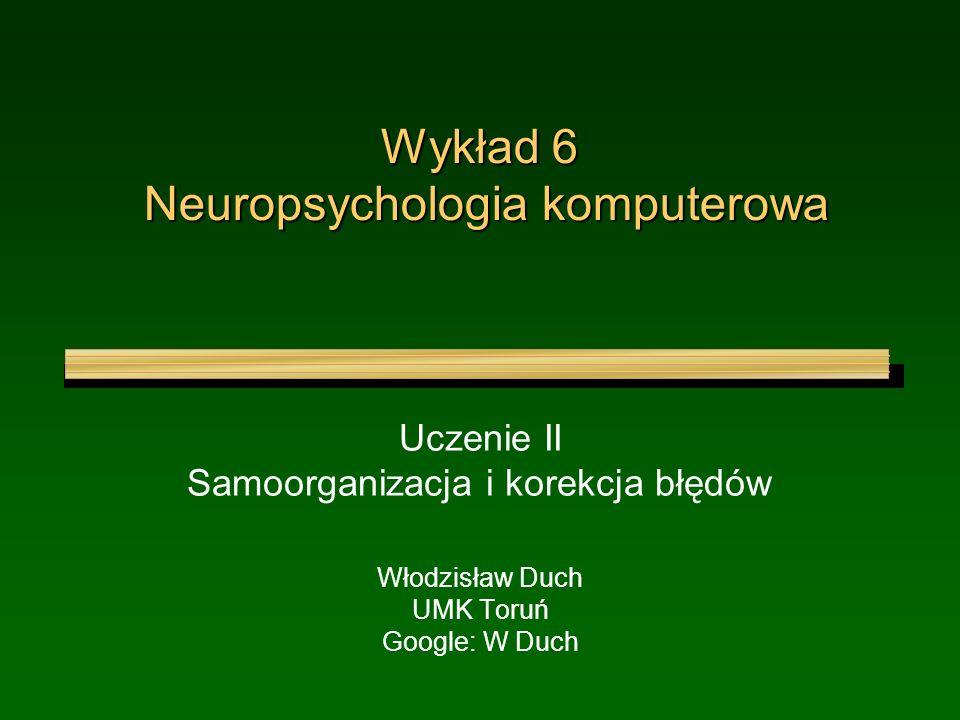 Wykład 6 Neuropsychologia komputerowa