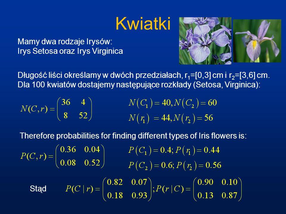 Kwiatki Mamy dwa rodzaje Irysów: Irys Setosa oraz Irys Virginica