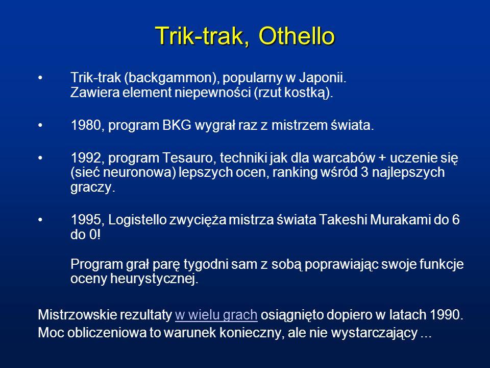 Trik-trak, Othello Trik-trak (backgammon), popularny w Japonii. Zawiera element niepewności (rzut kostką).