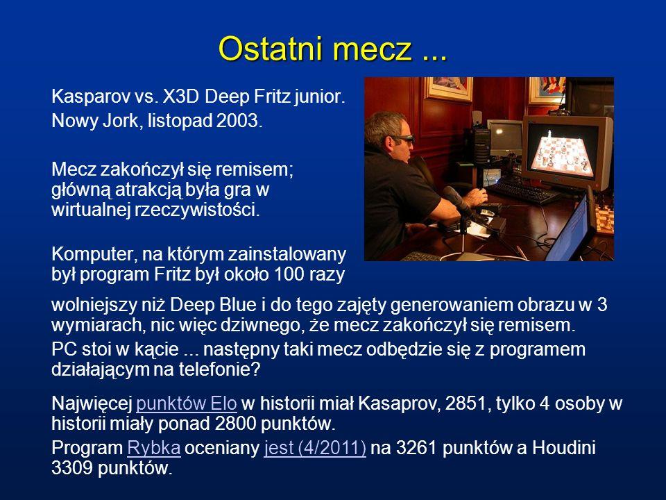 Ostatni mecz ... Kasparov vs. X3D Deep Fritz junior.
