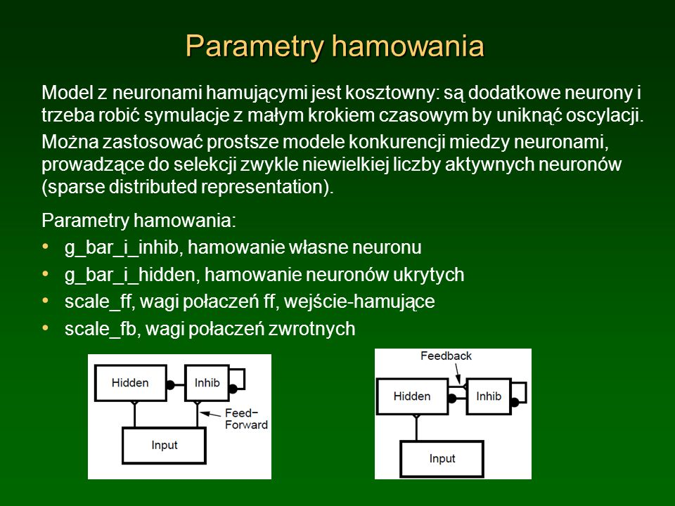 Parametry hamowania
