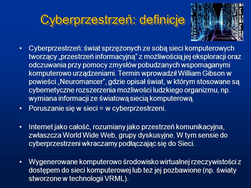 Cyberprzestrzeń: definicje