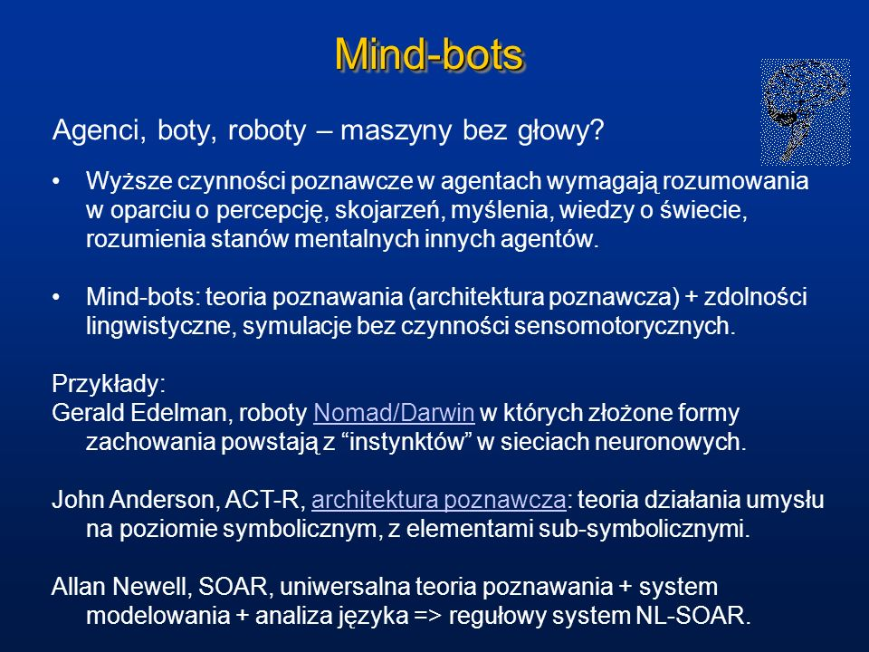 Mind-bots Agenci, boty, roboty – maszyny bez głowy