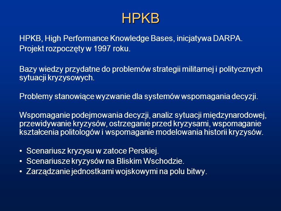 HPKB HPKB, High Performance Knowledge Bases, inicjatywa DARPA.
