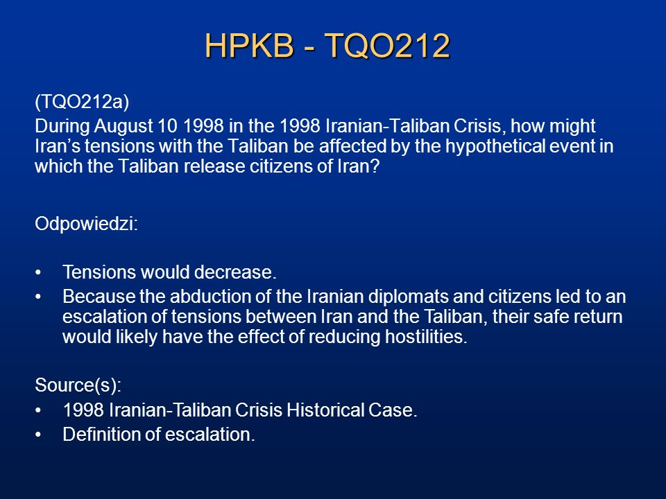 HPKB - TQO212 (TQO212a)