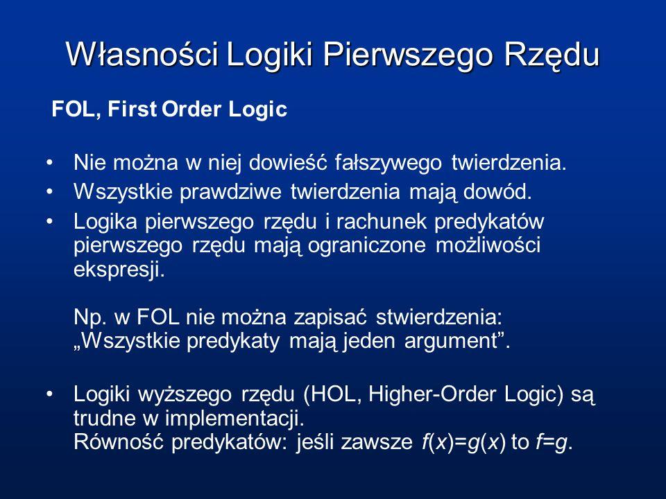 Własności Logiki Pierwszego Rzędu