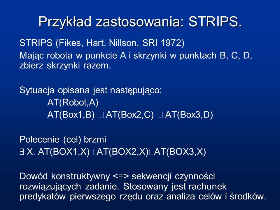 Przykład zastosowania: STRIPS.