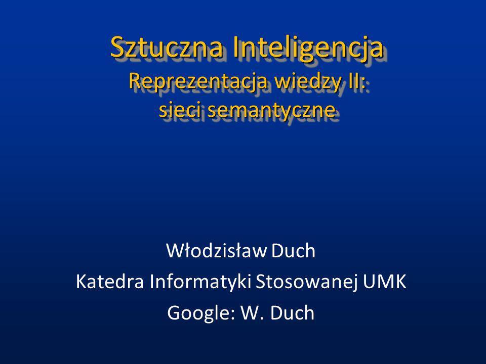 Sztuczna Inteligencja Reprezentacja wiedzy II: sieci semantyczne