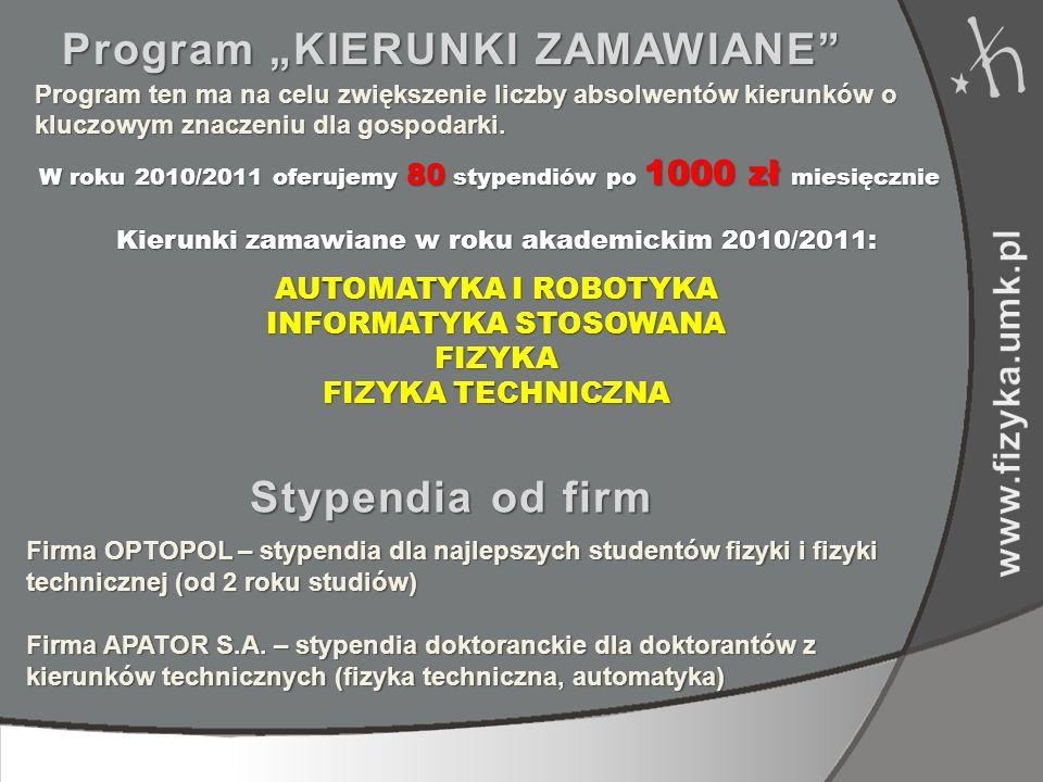 """Program """"KIERUNKI ZAMAWIANE"""