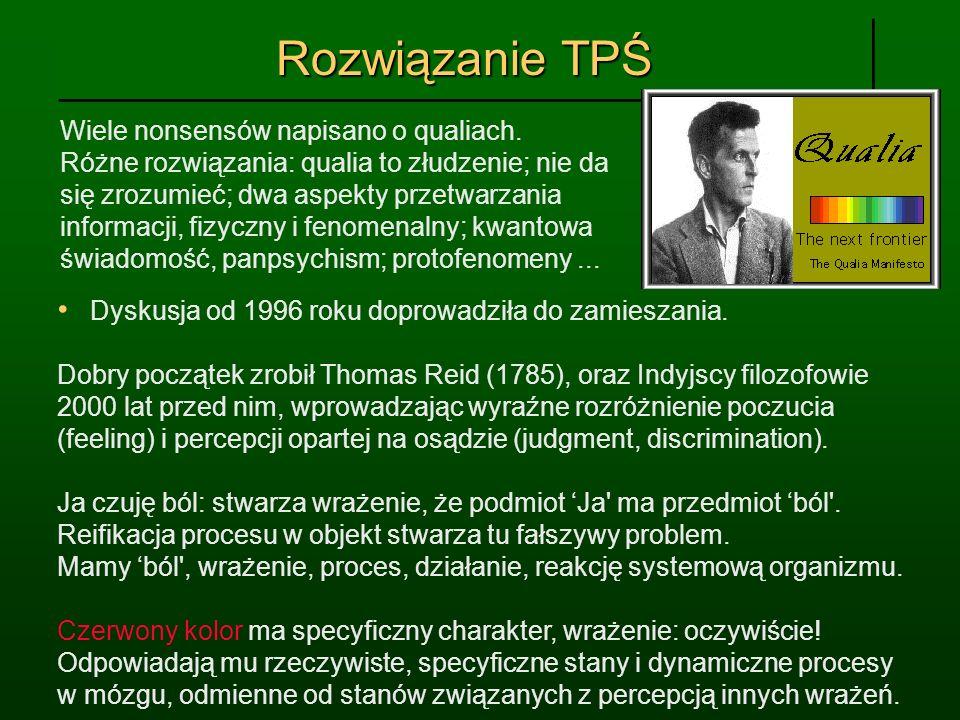 Rozwiązanie TPŚ Wiele nonsensów napisano o qualiach.