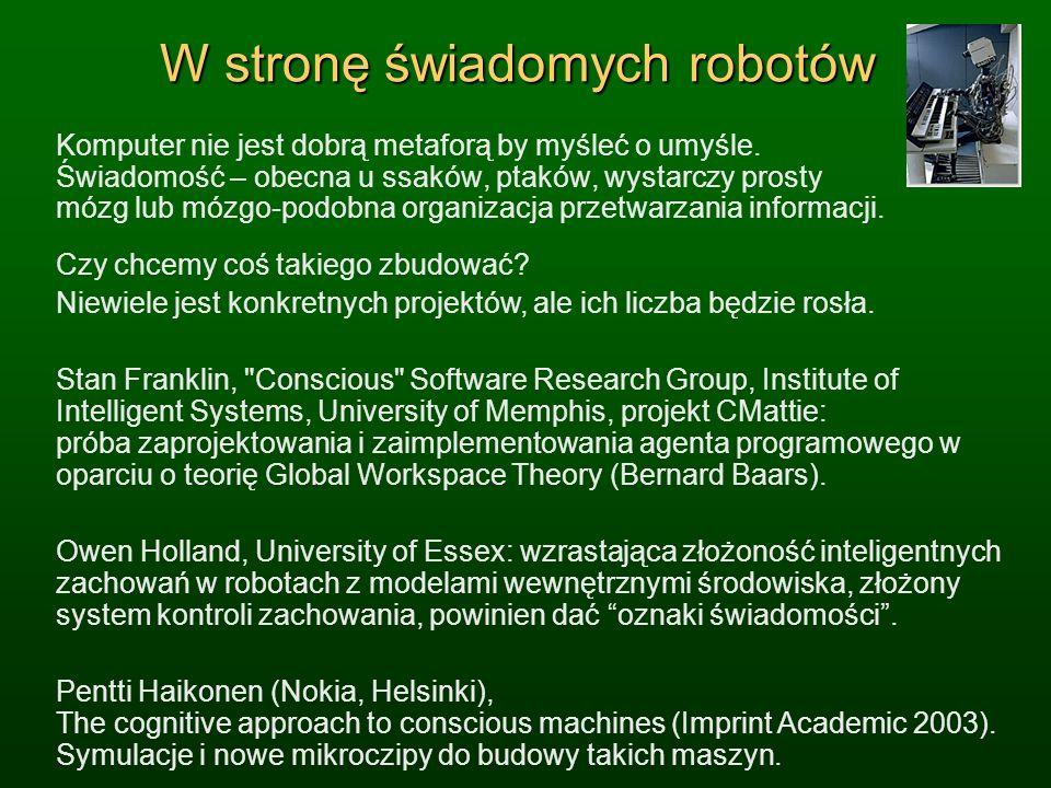 W stronę świadomych robotów