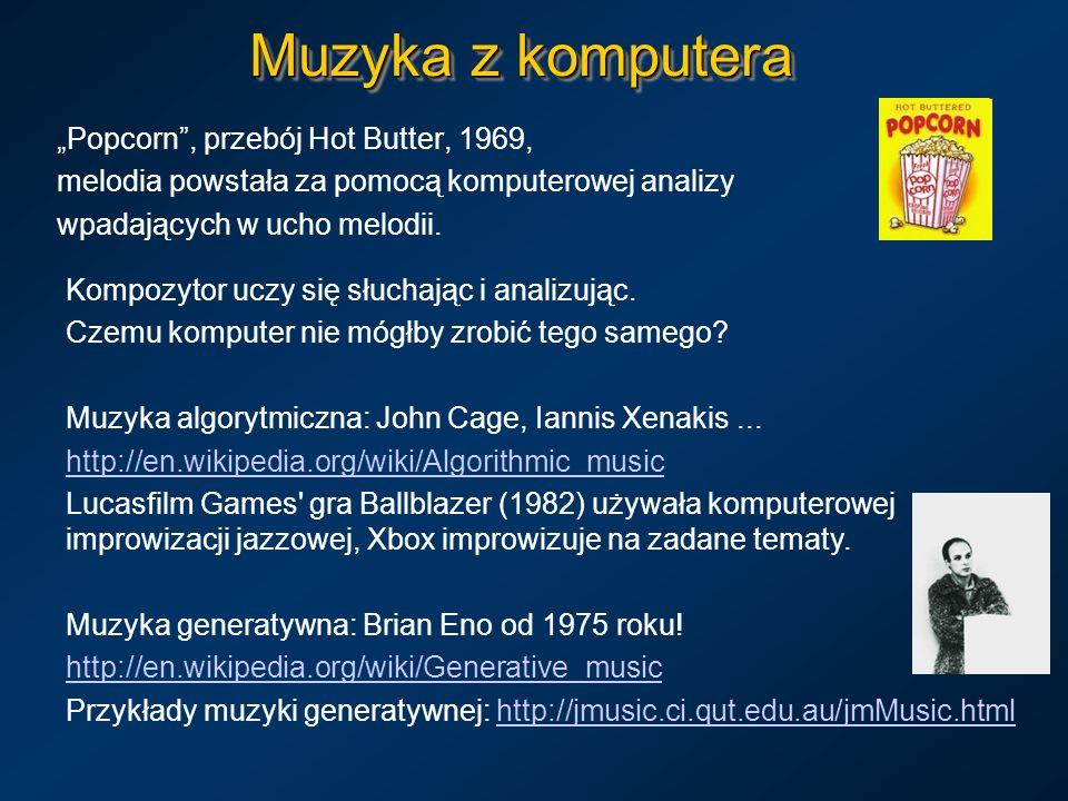 "Muzyka z komputera ""Popcorn , przebój Hot Butter, 1969,"