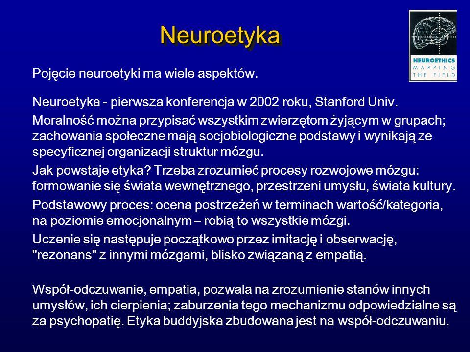 Neuroetyka Pojęcie neuroetyki ma wiele aspektów.
