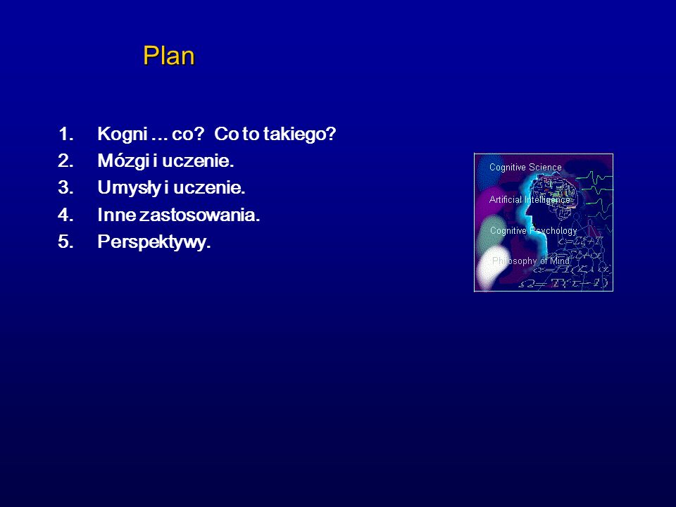 Plan Kogni ... co Co to takiego Mózgi i uczenie. Umysły i uczenie.