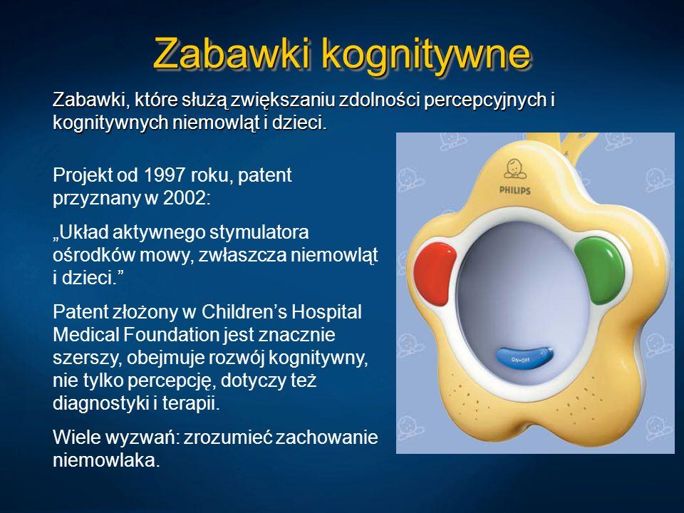 Zabawki kognitywne Zabawki, które służą zwiększaniu zdolności percepcyjnych i kognitywnych niemowląt i dzieci.
