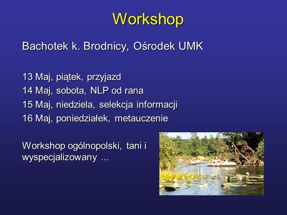 Workshop Bachotek k. Brodnicy, Ośrodek UMK 13 Maj, piątek, przyjazd