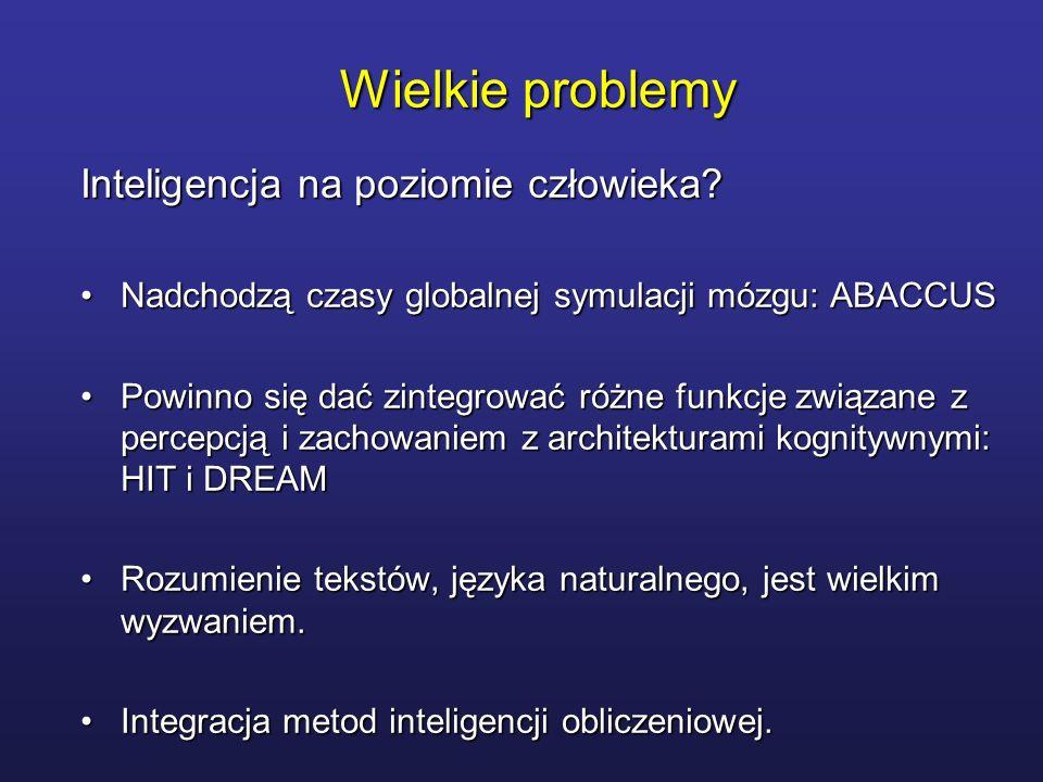 Wielkie problemy Inteligencja na poziomie człowieka