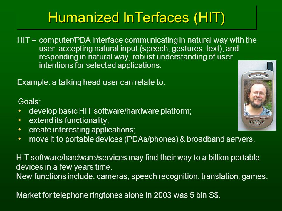 Humanized InTerfaces (HIT)