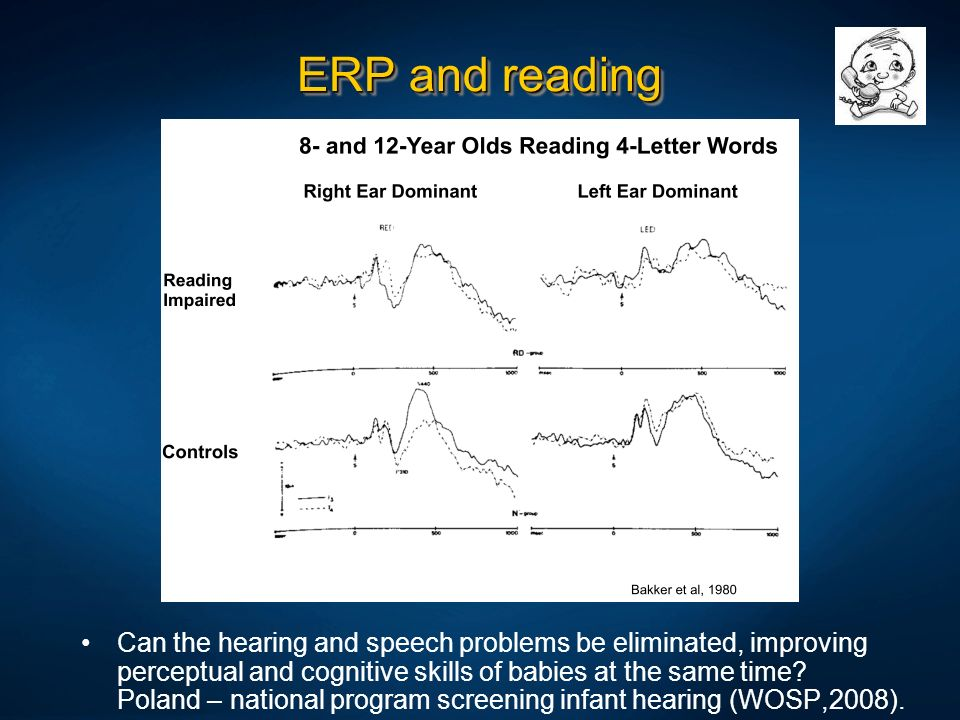 ERP and reading