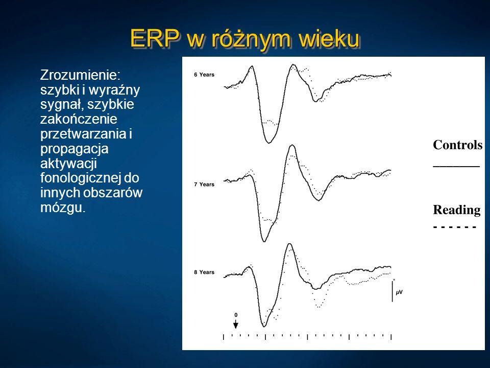ERP w różnym wieku