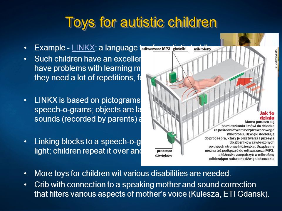 Toys for autistic children