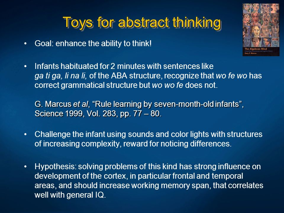 Toys for abstract thinking