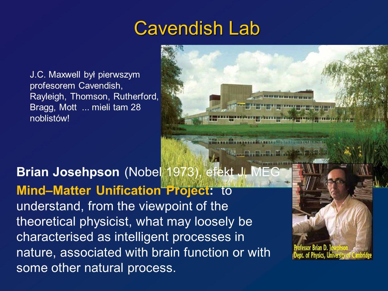 Cavendish Lab Brian Josehpson (Nobel 1973), efekt J, MEG