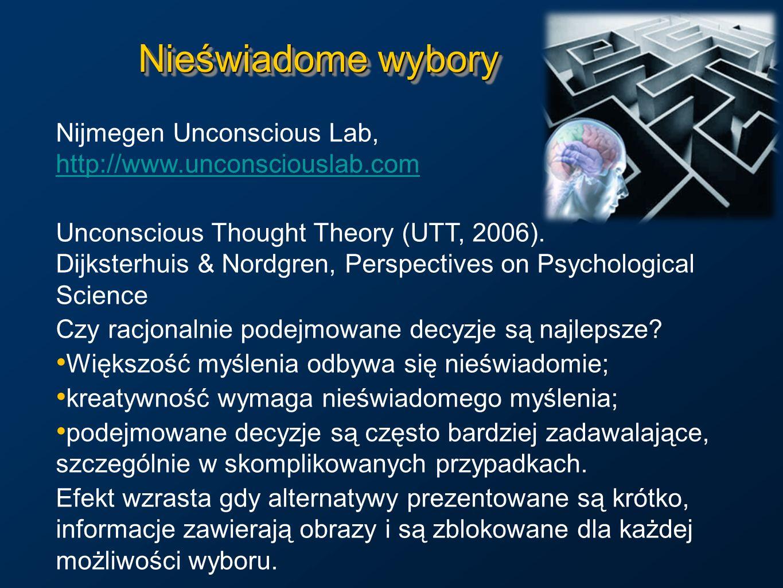 Nieświadome wyboryNijmegen Unconscious Lab, http://www.unconsciouslab.com.