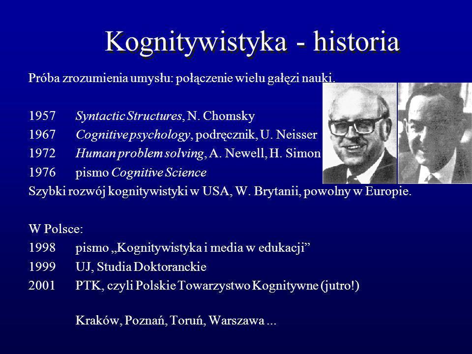 Kognitywistyka - historia