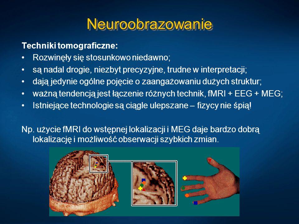 Neuroobrazowanie Techniki tomograficzne: