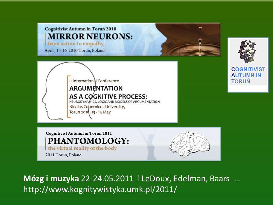 Mózg i muzyka 22-24.05.2011 ! LeDoux, Edelman, Baars …
