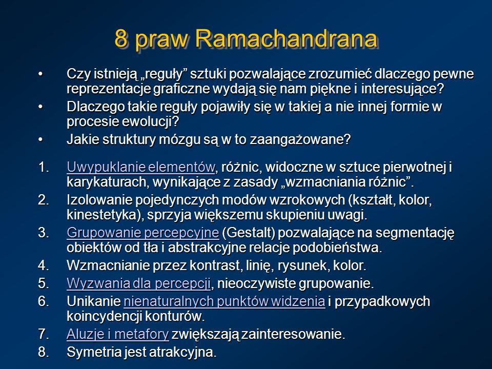 """8 praw Ramachandrana Czy istnieją """"reguły sztuki pozwalające zrozumieć dlaczego pewne reprezentacje graficzne wydają się nam piękne i interesujące"""
