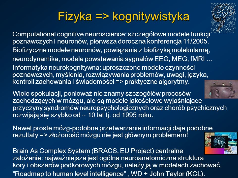 Fizyka => kognitywistyka