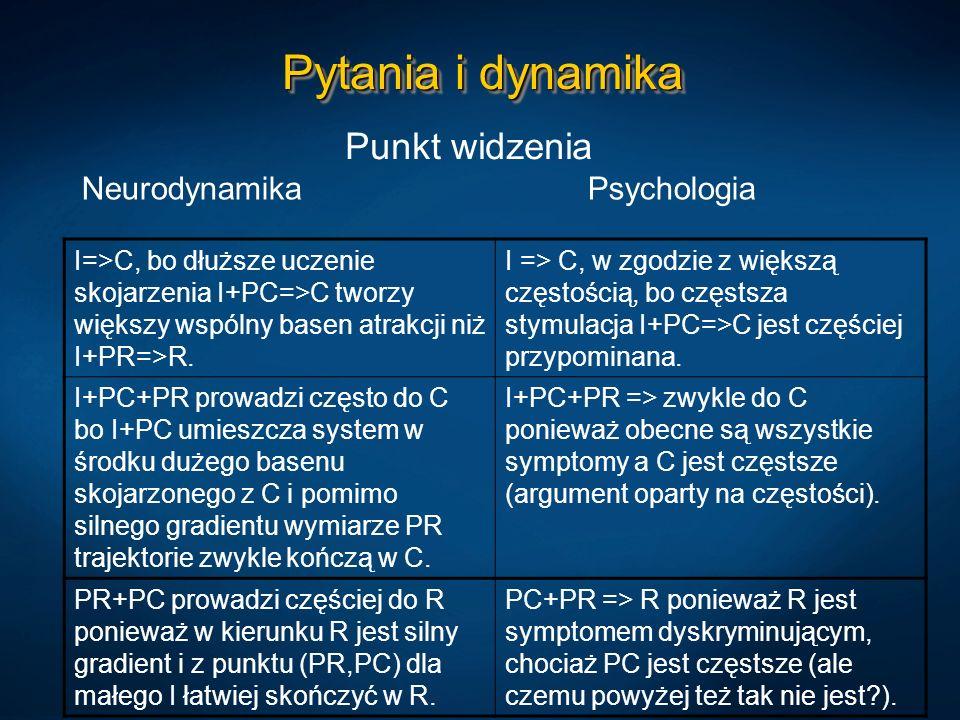 Pytania i dynamika Punkt widzenia Neurodynamika Psychologia