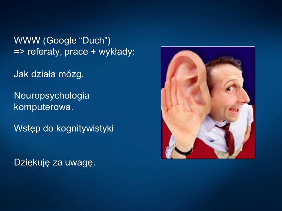 WWW (Google Duch ) => referaty, prace + wykłady: