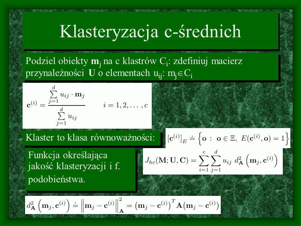 Klasteryzacja c-średnich