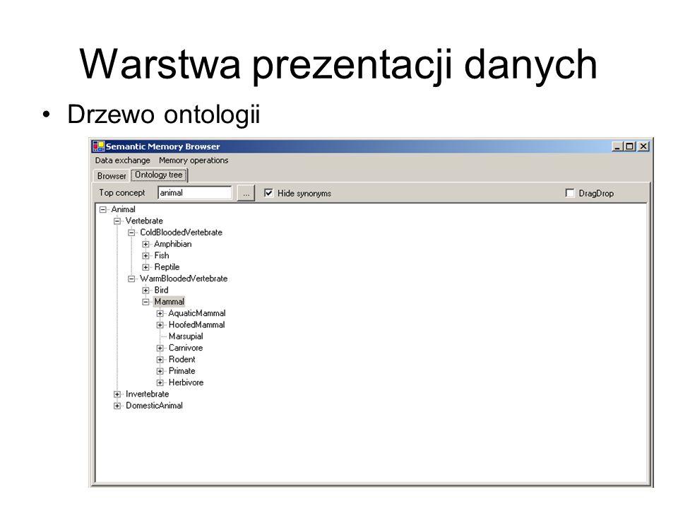 Warstwa prezentacji danych