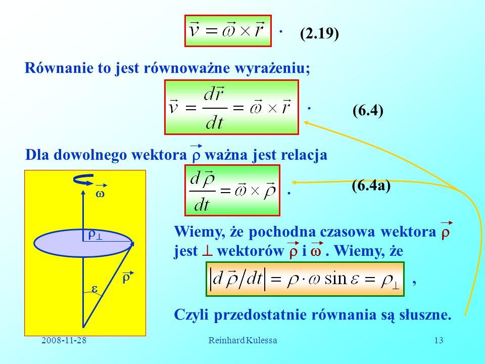 Równanie to jest równoważne wyrażeniu;