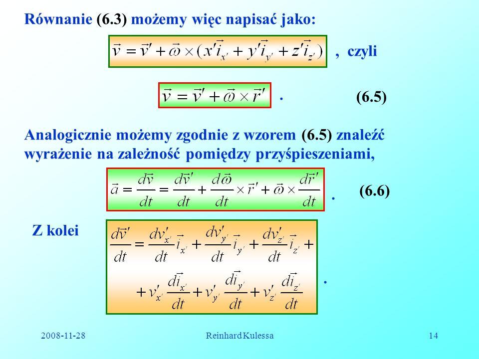 Równanie (6.3) możemy więc napisać jako: