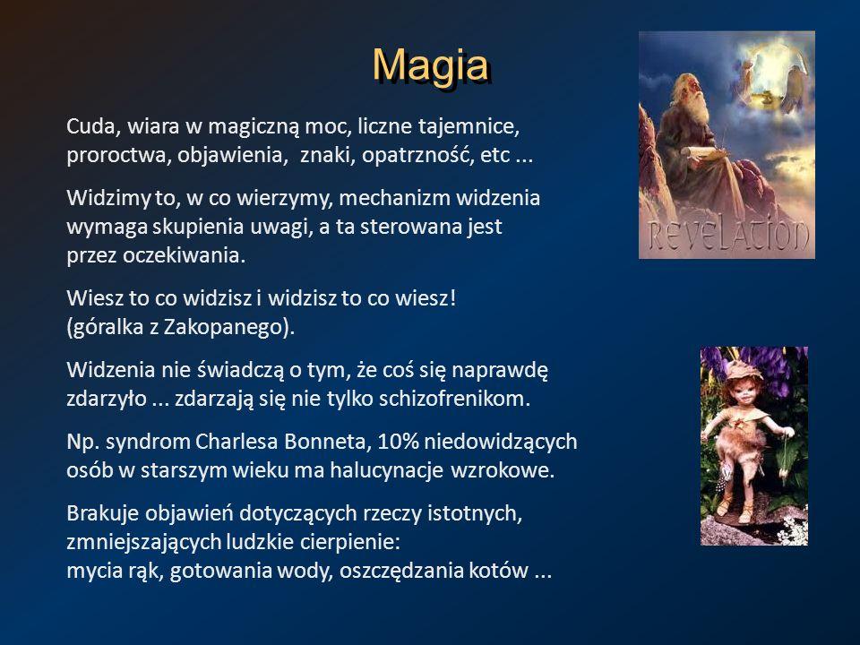 Magia Cuda, wiara w magiczną moc, liczne tajemnice, proroctwa, objawienia, znaki, opatrzność, etc ...