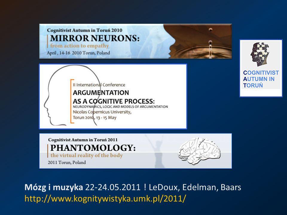 Mózg i muzyka 22-24. 05. 2011. LeDoux, Edelman, Baars http://www