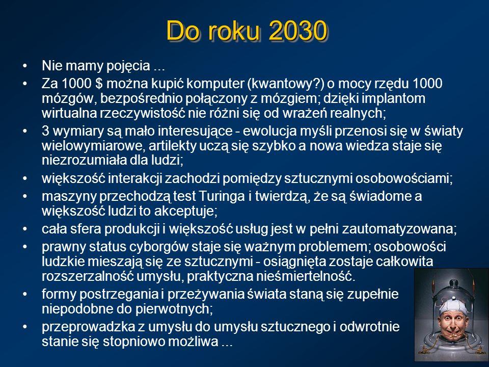 Do roku 2030 Nie mamy pojęcia ...