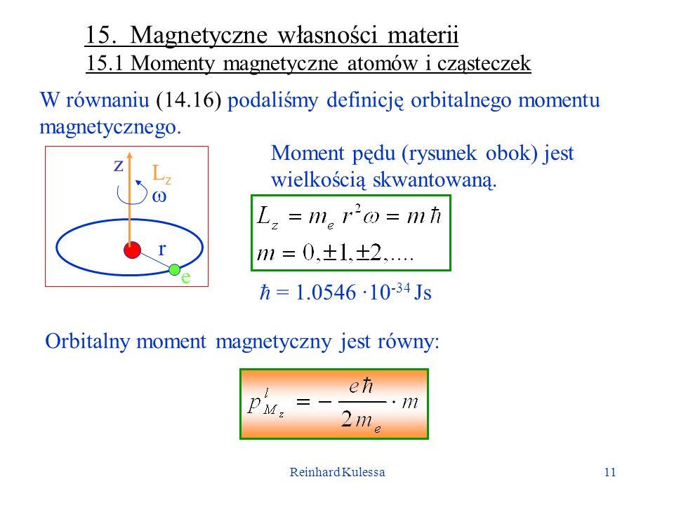 15. Magnetyczne własności materii
