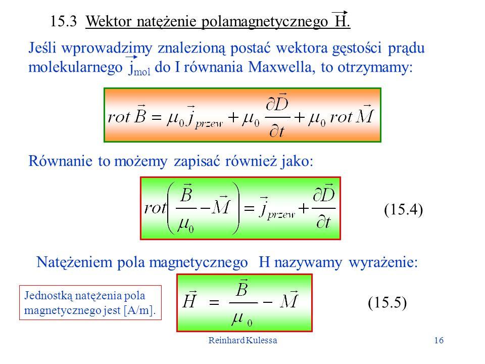 15.3 Wektor natężenie polamagnetycznego H.