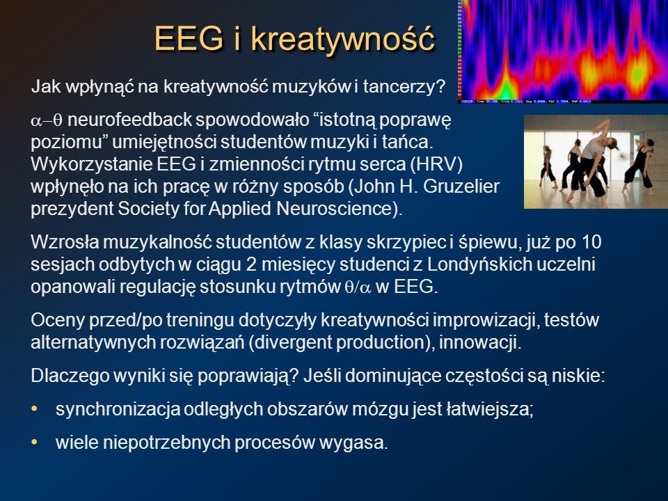 EEG i kreatywność Jak wpłynąć na kreatywność muzyków i tancerzy