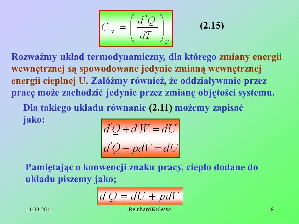 Dla takiego układu równanie (2.11) możemy zapisać jako: