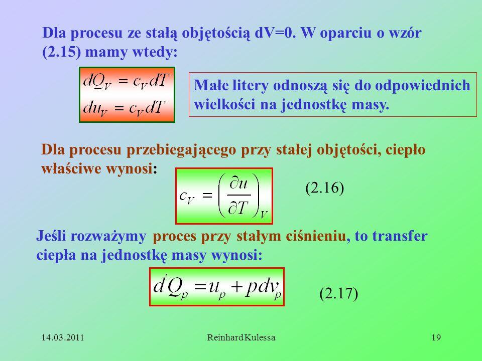 Małe litery odnoszą się do odpowiednich wielkości na jednostkę masy.